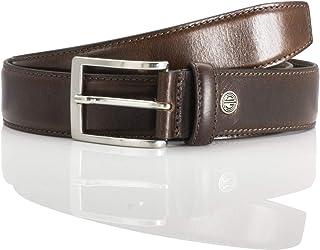 LINDENMANN LM leather belt for men leather belt made of cow leather, 35 mm wide and 3,8 mm strong, adjustable, belt, leath...