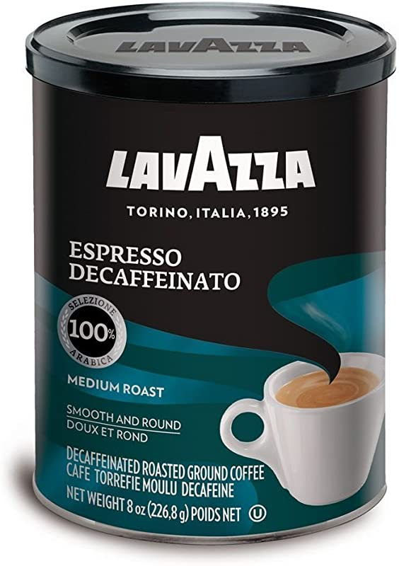Lavazza Decaffeinated Espresso Ground Coffee 8 Ounce Pack Of 2