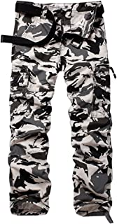 AKARMY Must Way Men's Cotton Multi Pockets Military Cargo Pant Casual Work Combat Trousers with 8 Pockets