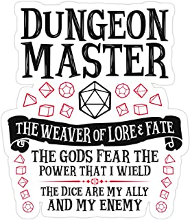 B. Strange Mall Dungeon Master, The Weaver of Lore & Fate - Dungeons & Dragons (Black Text) Stickers (3 Pcs/Pack)