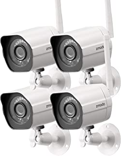 Zmodo Wireless Security Camera System (4 Pack) Smart HD Outd