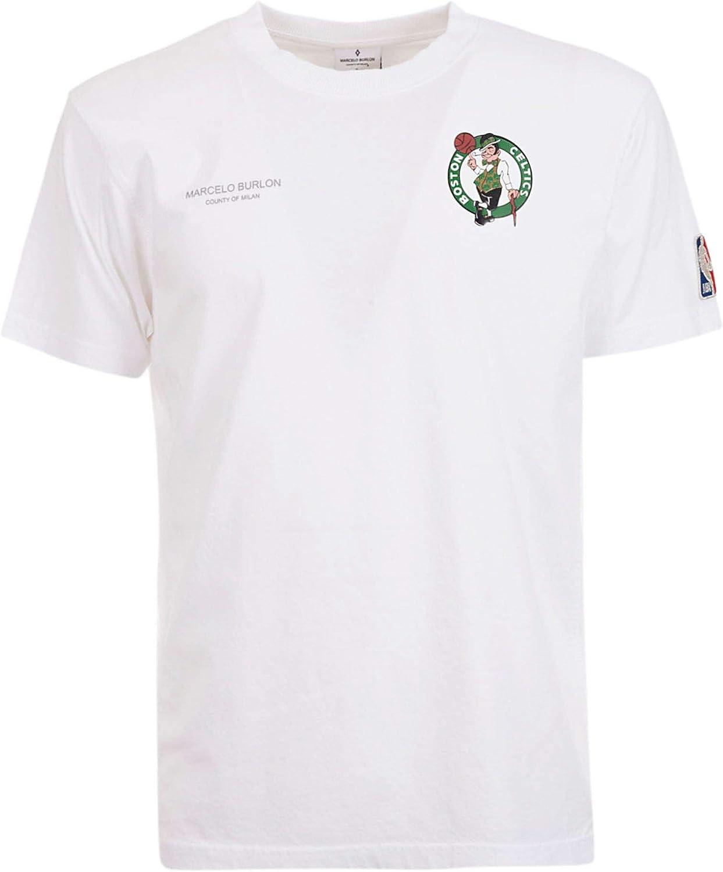 MARCELO BURLON Men's CMAA057R190010560140 White Cotton TShirt