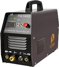 Lotos TIG160 160A DC Tig Welder with DC Stick/Arc Welding Machine, IGBT, 110V 220V Auto Dual Voltage, Brown