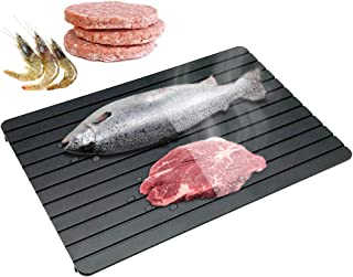 CHEFLY Large Fast Defrosting Tray for Frozen Meat Foods 13.8〃 by 7.8〃 No Electricity Aluminum Miracle Natural Thawing Plat...