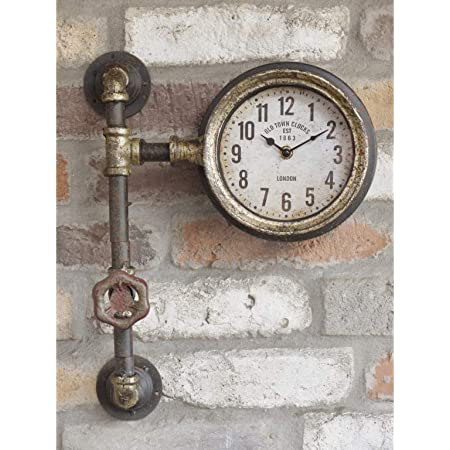 'Old Town Clocks' Single Clock with Industrial Pipework