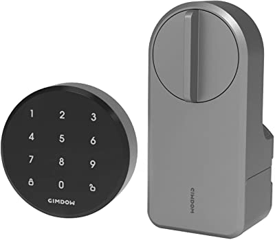 GIMDOW Smart Lock, Keyless Entry Door Lock with AES 128-bits Encrypted, Extra Keypad Included, Easy Installation Deadbolt for Home, Office and Airbnb