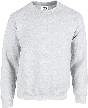 Premium Sweatshirts Plain Workwear Casual Crewneck Jumper Sweater Sports Leisure Fleece