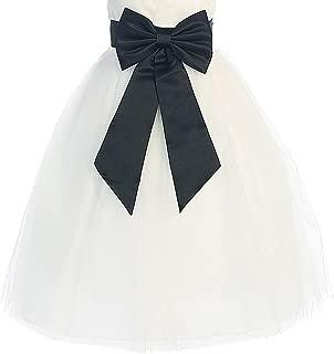 black satin bow dress