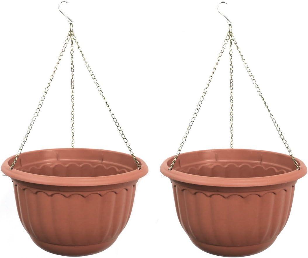 YIKUSH Plastic Garden Plant Hanging Planter Decor Di Pots Ranking TOP2 2 Baltimore Mall Pcs