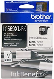 Brother Lc569xl High Capacity Black Ink For Mfc-j3520 And J3720