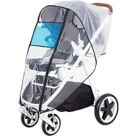 Hrzeem Stroller Rain Cover Universal Size Waterproof Windproof EVA The Weather Shield with Eye Screen(Black)