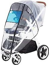 Best Hrzeem Stroller Rain Cover Universal Size Waterproof Windproof EVA The Weather Shield with Eye Screen(Black) Review