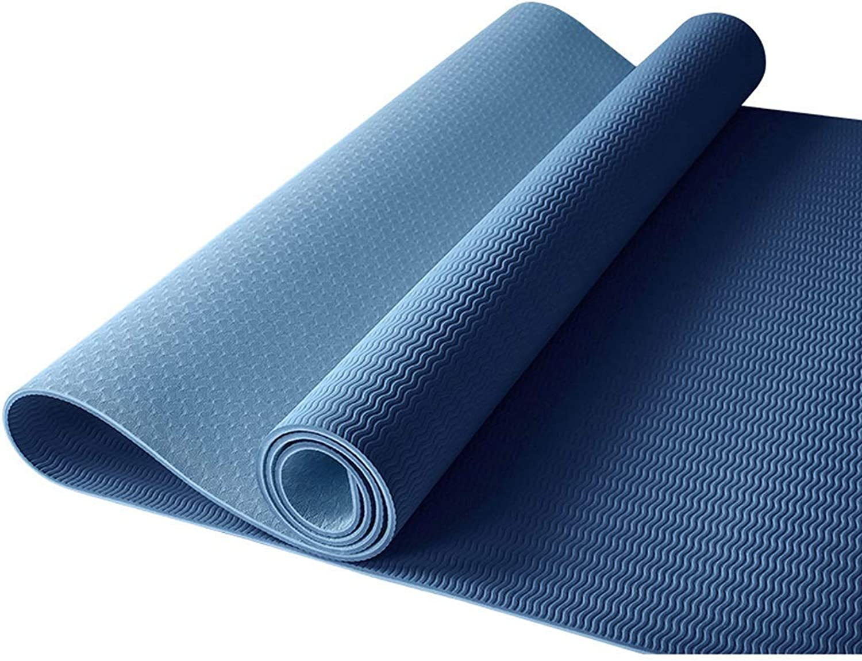 KYCD Yoga-Matte, Mnner Und Frauen Rutschfeste Verbreiterte Verdickung Anfnger Zweifarbige Fitness Dance Yoga Home-Matte, 8mm   6mm Multi-Farbe-Auswahl