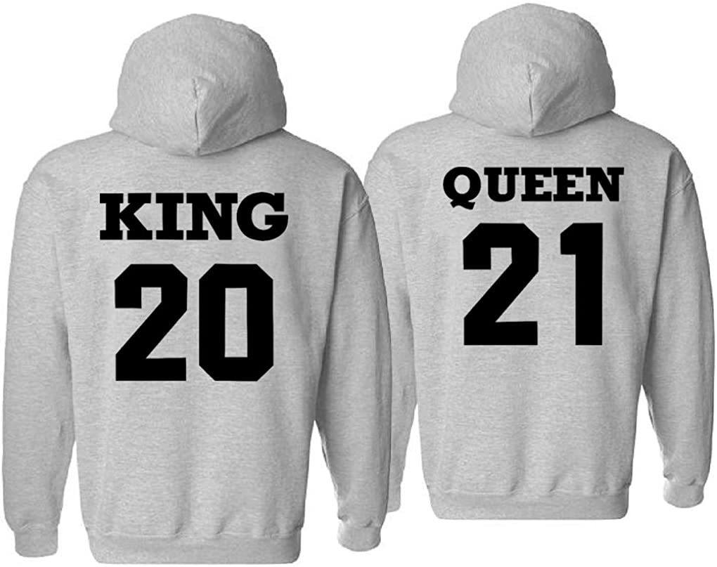 King Queen Hoodies Couple Ranking Baltimore Mall TOP6 HisHer Matching