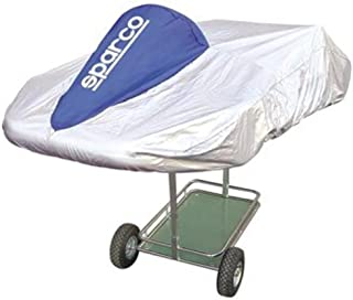 Sparco Kart Cover Silver/Blue