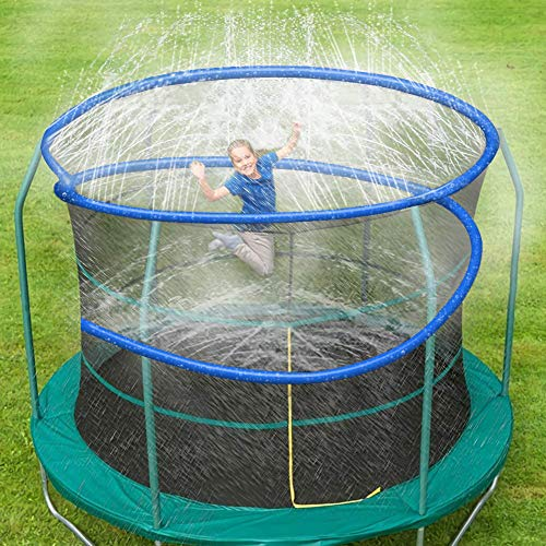 ARTBECK Thicken Trampoline Sprinkler, Outdoor Trampoline Water Play Sprinklers for Kids, Fun Water Park Summer Toys Trampoline Accessories ( 39 ft, Blue )