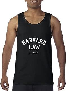 Harvard Law Just Kidding Funny Humour Men's Tank Top