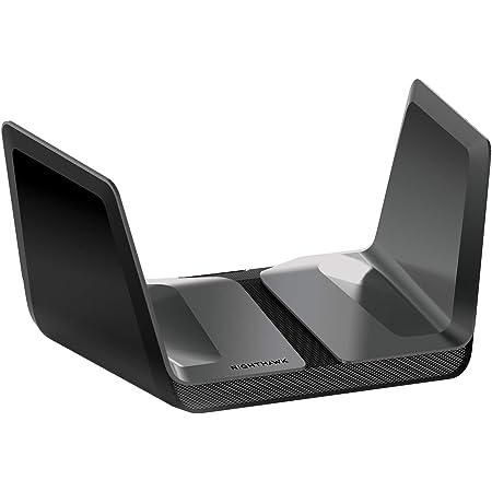NETGEAR WiFiルーター 11ax(Wi-Fi6)無線LAN AX6000 【iPhone 11/11 Pro Max対応】Nighthawkシリーズ 8ストリーム 無線速度 4.8G+1.2G RAX80