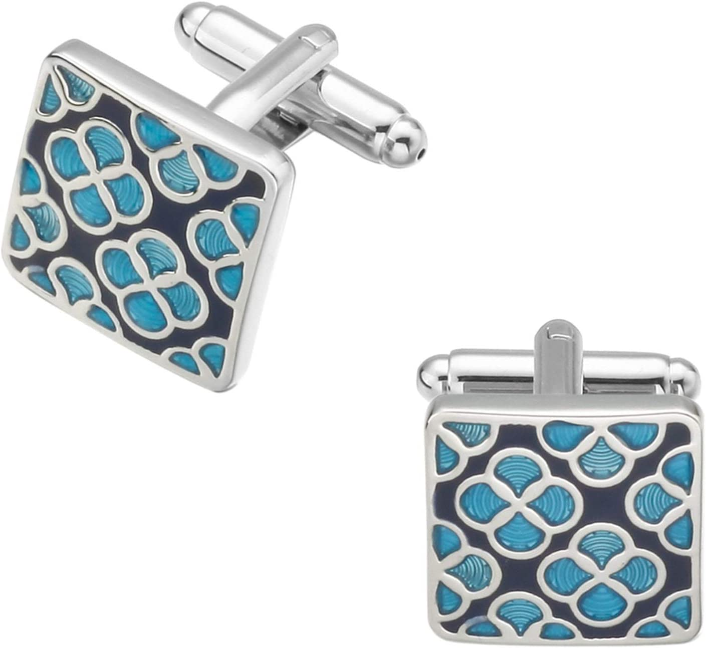 LSDJ QMDSH Vintage Pattern Cufflinks Blue Limited time for free ...