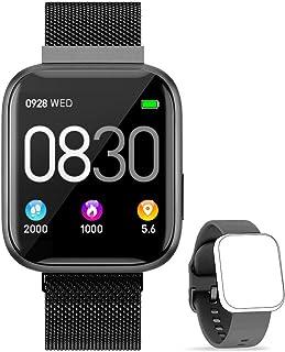 BANLVS Smartwatch, 1.4 Inch Reloj Inteligente IP67 con Pulsómetro Presión Arterial, Monitor de Sueño Podómetro Contador de...