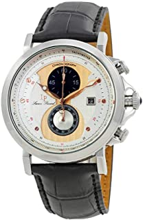 Lucien Piccard Men's 40015-02S-RA-CP Pegasus Analog Display Quartz Black Watch