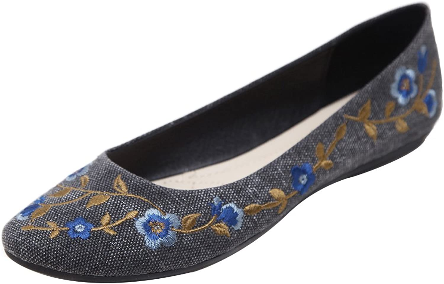 Kyle Walsh Pa Women Embroidery Ethnic Style Comfortable Casual Walking Flat shoes