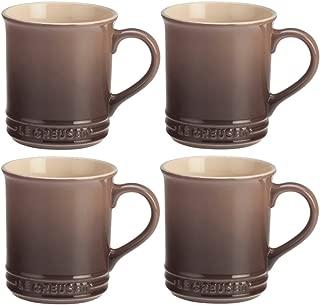 Le Creuset Truffle Stoneware 12 Ounce Coffee Mug, Set of 4