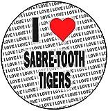 Decoración redonda para tarta con diseño de tigres con dientes de sable de 8 cm y 20 cm