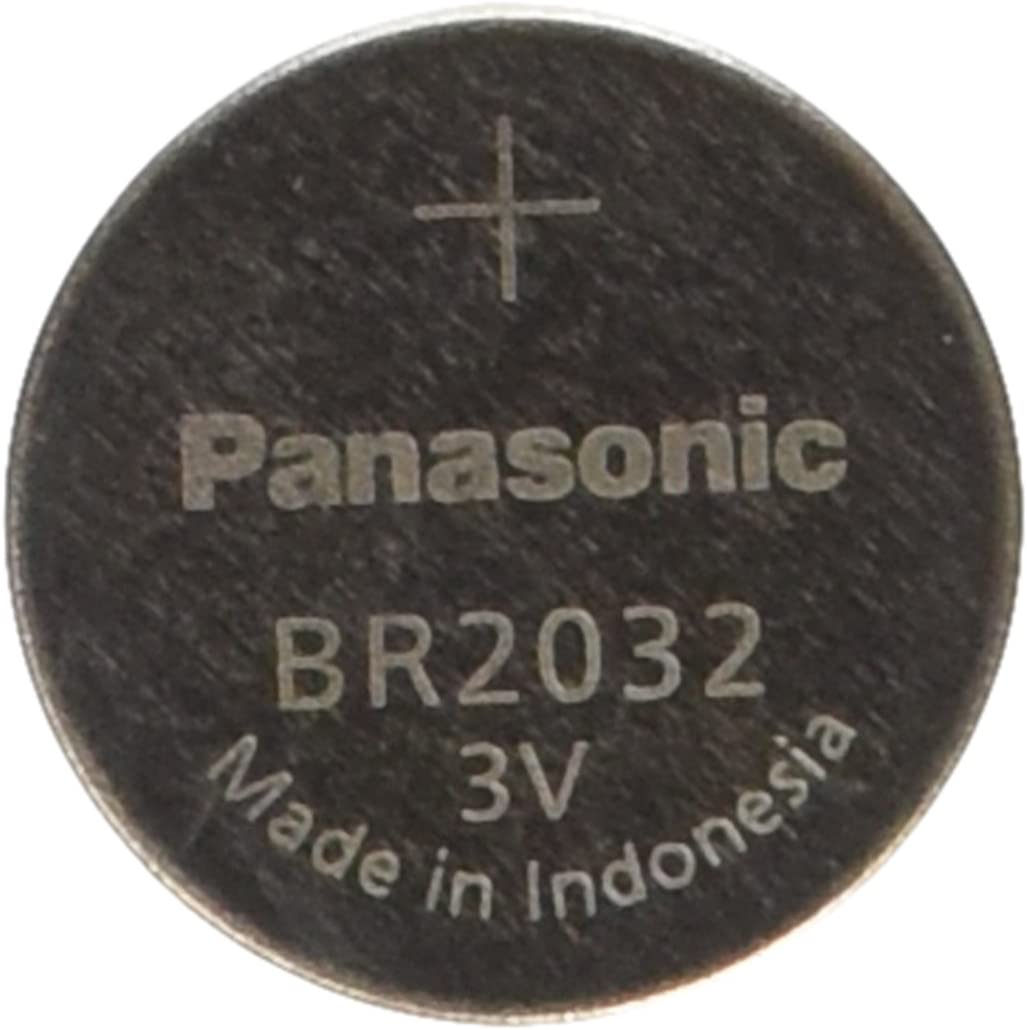 Panasonic BR2032 Battery, Lithium, 3v, 190ma, Coin cell
