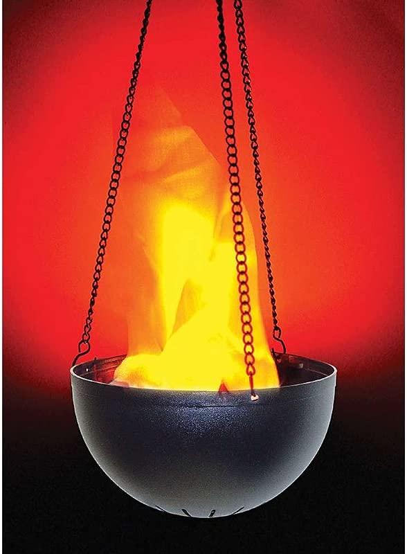 Morris Hanging Flame Light Lamp Prop Black Orange Standard