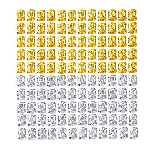 TOMYEER 120 Pièces Tresses Perles Mixte 60 Pièces Or Et 60 Pièces 10mm