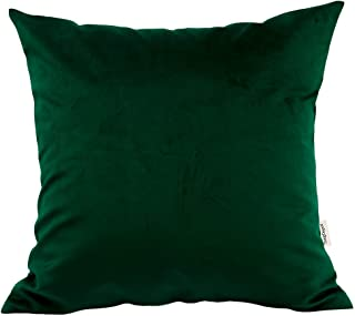 TangDepot Solid Velvet Throw Pillow Cover/Euro Sham/Cushion Sham, Super Luxury Soft Pillow Cases, Many Color & Size Options - (26