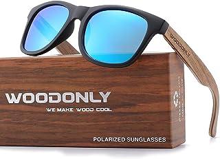 Retro Wood Polarized Sunglasses - Cool Style Matte Finish...