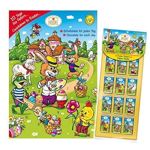 Osterkalender Heidel 1x50g Easter Calendar 12er Choco Minis Ostern unter Freunden