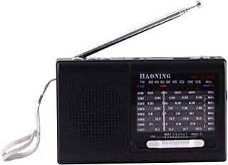Digital Media Players HAONING HN-315UA Portable FM AM SW (1-7) 9 Bands Channels Radio, Rechargeable Li-ion Battery, Suppor...