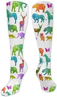 WlyFK, Calcetines coloridos de algodón con diseño de animales, ideales para Crossfit, viajes y ejercicios médicos