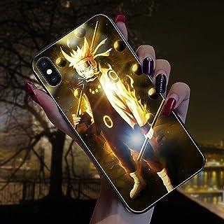 جراب هاتف محمول من الزجاج اللامع المضاد للسقوط، بتصميم ناروتو ساسوكي من نميجو مُضيء لهاتف أيفون 11 برو ماكس / XR X/XS ماكس...