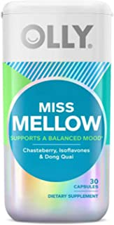 Olly Miss Mellow Hormonal Supplements 40 Capsules! Formulated with Chasteberry, Isoflavones and Dong Quai! Support Women's...