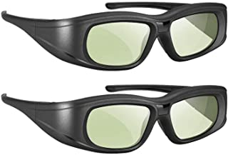 Elikliv 3D Glasses Active Shutter Rechargeable 3D Eyewear Compatible with Epson Sony LCD Projector/Sony Panasonic Samsung ...