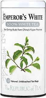 The Republic Of Tea Emperor's 100% White Tea, Zero Calorie, Sugar-Free, Carb-Free, 50 Tea Bag Tin