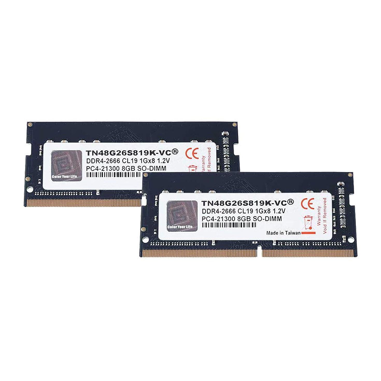 V-Color 16GB (2 x 8GB) Laptop Memory Module Upgrade for iMac, MacBook Pro DDR4 Non ECC 2666MHz (PC4-21300) CL19 1.2V SO-DIMM (TN48G26S819K-VC)