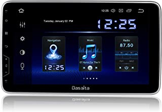Dasaita 10 inch Rotatable Screen 2din Android 9.0 Car Stereo for Universal Radio GPS DSP System 4G Ram 64G ROM Bluetooth 5.0 15Band EQ Navigation Multimedia