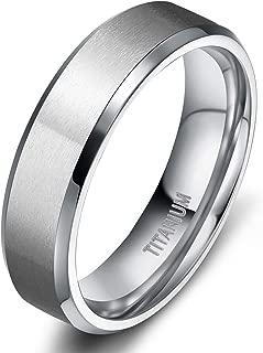 Titanium Rings 4MM 6MM 8MM 10MM Wedding Band in Comfort Fit Matte for Men Women