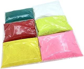 Rangoli Powder (Multicolor 50 gm x 5 Colours White Color 100 Gr) Premium Rangoli Colored Rangoli Powder Colors Rangoli Mak...