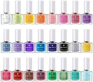 BORN PRETTY 【全24色】スタンピングネイル専用マニキュア 6ml スタンプネイルポリッシュ ネイルアート用品 (24 colors)