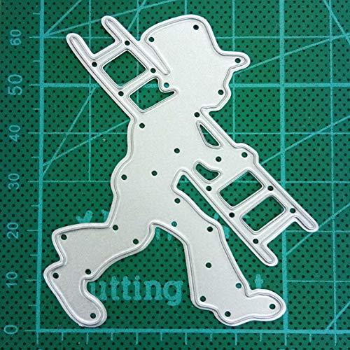 PIXIEY DIY snijden matrijs Ladder Jongen Grens Metaal snijden Dies Stencil Voor Diy Scrapbooking Decoratieve Craft Dies Papier Kaart Maken Embossing Dies