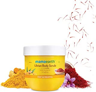 Mamaearth Ubtan Body Scrub with Turmeric & Saffron for Tan Removal – 200 g