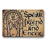 N / A Felpudo de Entrada Speak Friend and Enter Felpudo de Bienvenida Alfombrilla de Puerta Alfombrilla de Puerta Alfombrilla de Entrada para Interiores y exteriores-16x24 Inch