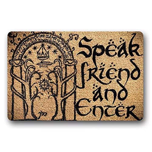 N / A Felpudo de Entrada Speak Friend and Enter...