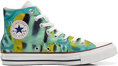 Converse All Star zapatos Personalizadas Unisex (Producto Artesano) Peces de Colors